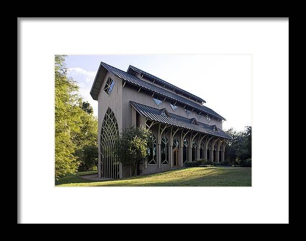 University Of Florida Framed Print featuring the photograph University Of Florida Chapel On Lake Alice by Lynn Palmer