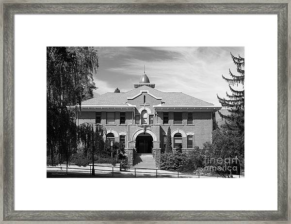 Au0026a South Framed Print Featuring The Photograph University Of Idaho Art And  Architecture By University Icons