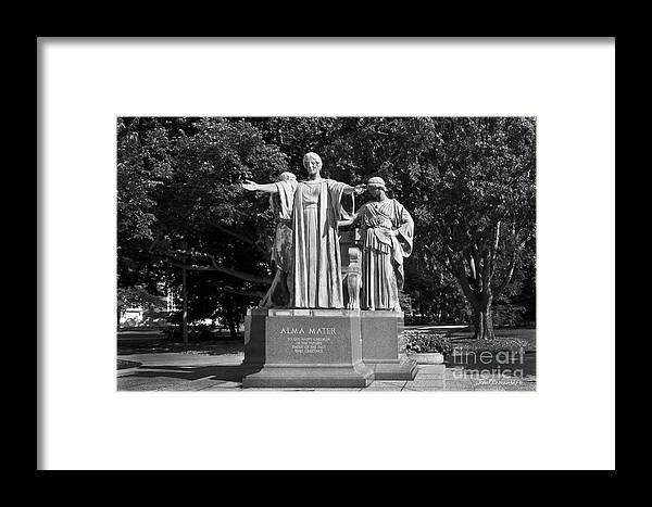 American Framed Print featuring the photograph University Of Illinois Alma Mater by University Icons