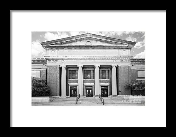 American Framed Print featuring the photograph University Of Illinois Smith Hall by University Icons