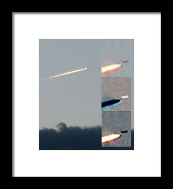 Ufo Framed Print featuring the photograph Unknown Flying Disk by Vaswaith Elengwin