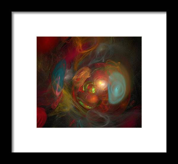 Kathie Chicoine Framed Print featuring the digital art Unnamed Universe by Kathie Chicoine
