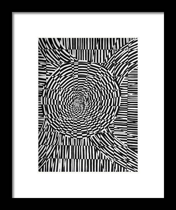 Abstract Framed Print featuring the drawing Unraveled by Crystal Hubbard