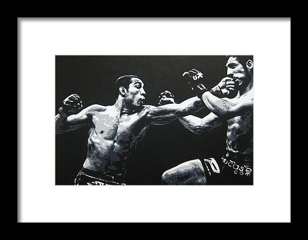 Jose Aldo Framed Print featuring the painting Unstoppable by Geo Thomson