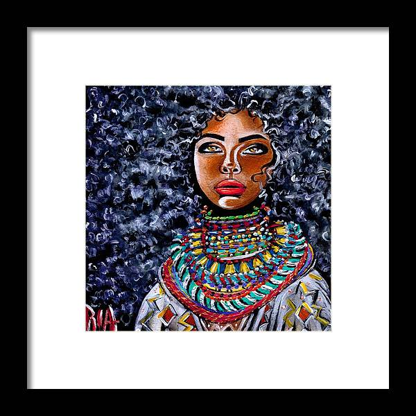 Artbyria Framed Print featuring the photograph Untamed Beauty by Artist RiA