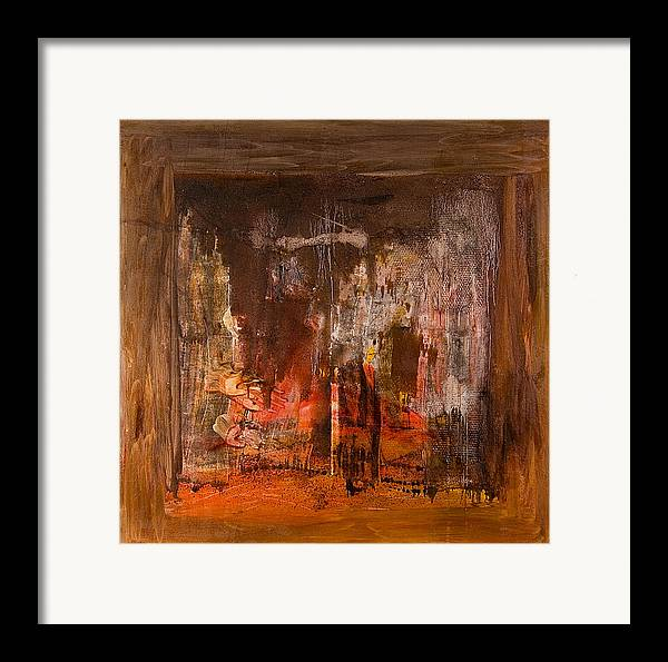 Framed Print featuring the painting Untitled # 233 by Kongtrul Jigme Namgyel