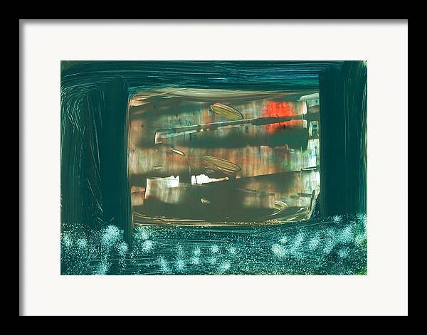 Framed Print featuring the painting Untitled #23 by Kongtrul Jigme Namgyel