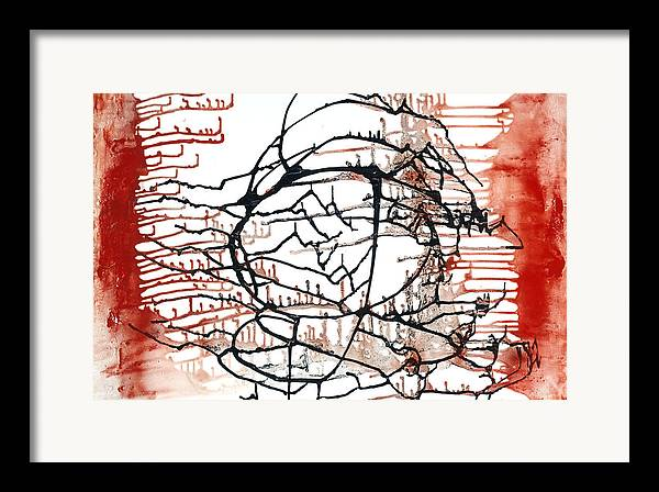 Abstract Expressionism Framed Print featuring the painting Untitled 234 by Kongtrul Jigme Namgyel