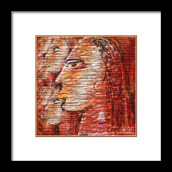 Fine Art Framed Print featuring the painting Untitled 288 by Nedunseralathan R