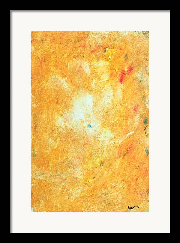 Abstract Expressionism Framed Print featuring the painting Untitled 5 by Kongtrul Jigme Namgyel