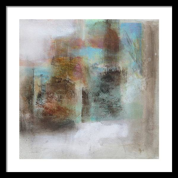 Irregular Forms Framed Print featuring the painting Abstract 2 by Edward Jensen