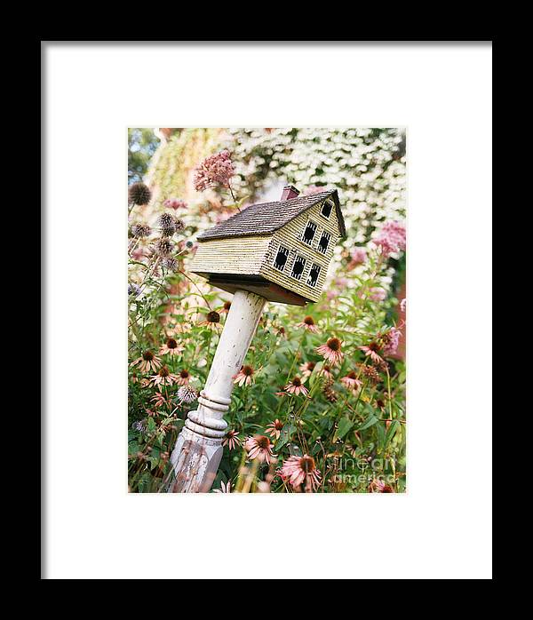 Bird House Framed Print featuring the photograph Untitled by Angela Swan