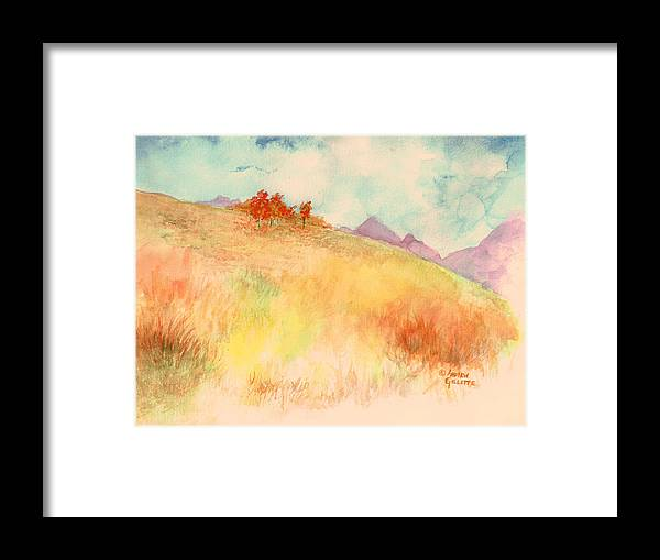 Landscape Framed Print featuring the painting Untitled Autumn Piece by Andrew Gillette