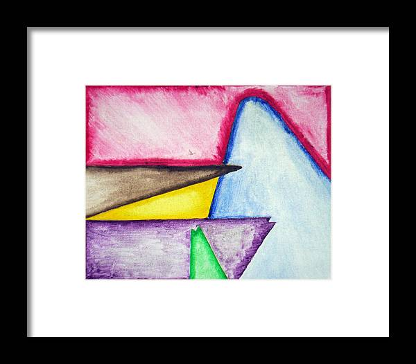 Abstract Framed Print featuring the painting Untitled by Christopher Lewis