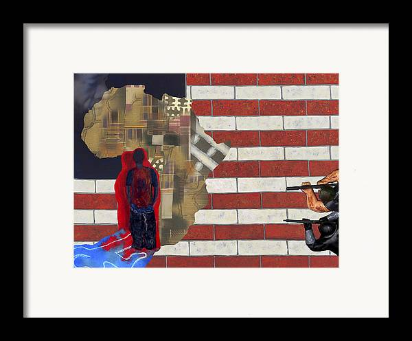 African American Framed Print featuring the digital art In-sights by F Geoffrey Johnson