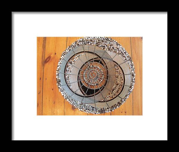 Untitled Bowl Framed Print featuring the ceramic art Untitled Fruit Bowl by Nick Jaji