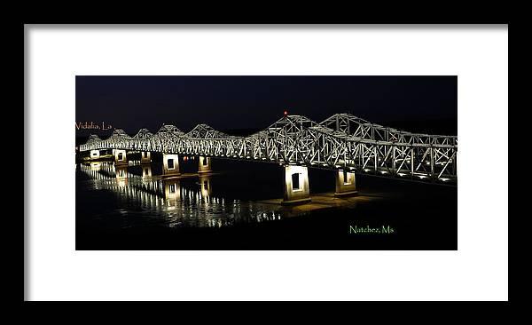 Bridges Framed Print featuring the photograph Natchez Bridges by Leon Hollins III