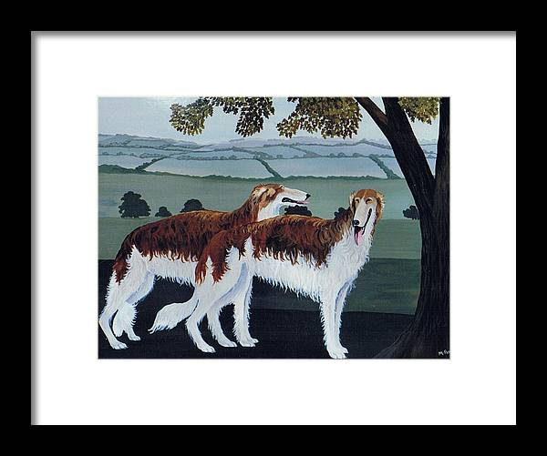 Borzoi Framed Print featuring the photograph Untitled by Maggie Rowe