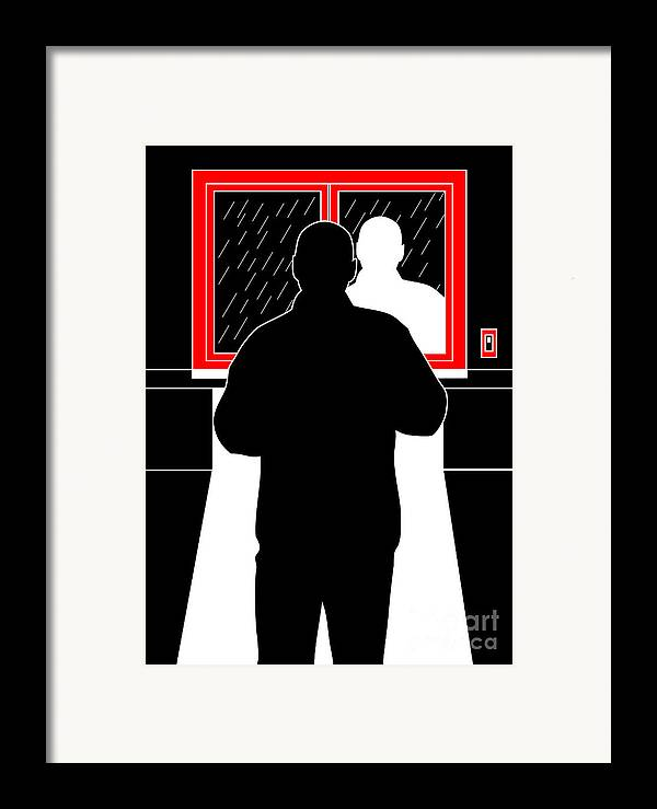Artwork Framed Print featuring the digital art Untitled No.11 by Caio Caldas