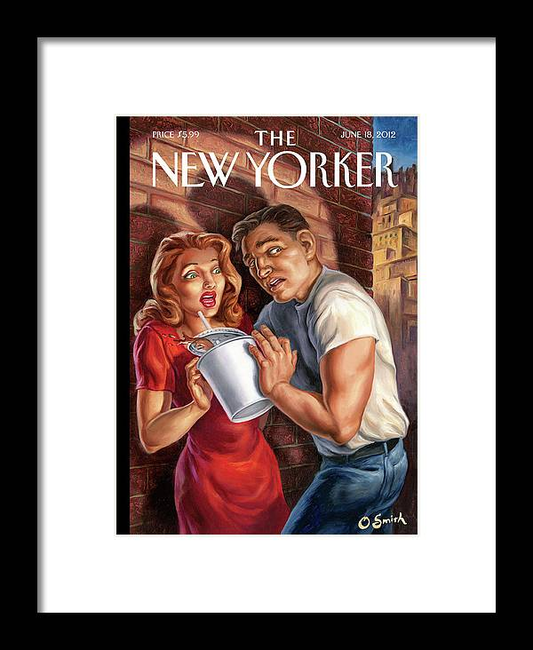 Soda Framed Print featuring the painting New Yorker June 18th, 2012 by Owen Smith
