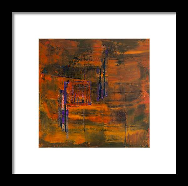 Storm Framed Print featuring the painting Untitled by Rick Cash