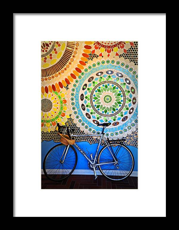 Bike Framed Print featuring the photograph Up Against A Wall by Lynn Bauer