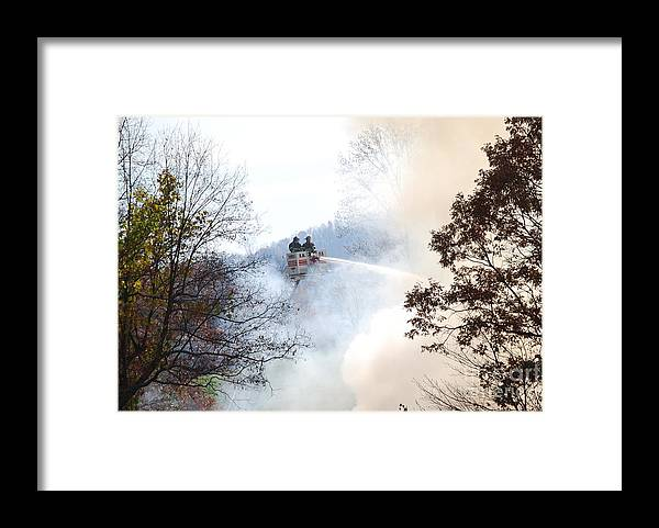 Fire Framed Print featuring the photograph Up In Smoke by Eric Liller