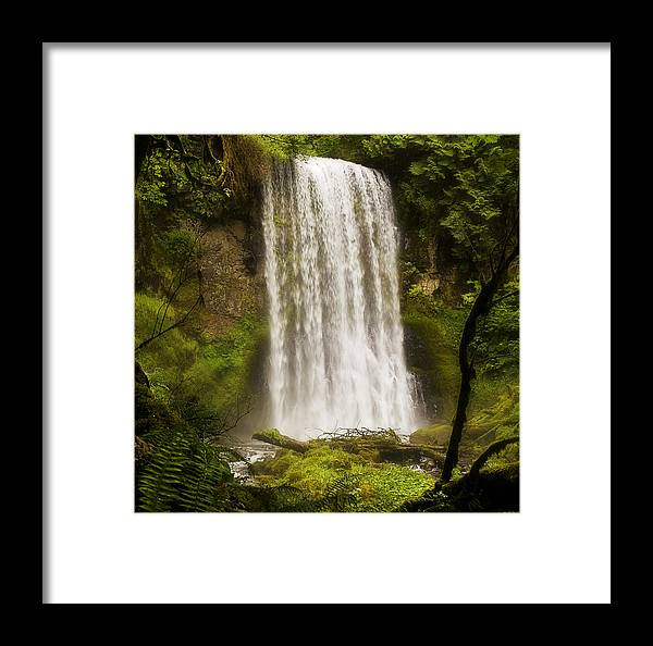 Waterfalls Framed Print featuring the photograph Upper Bridal Veil Falls 2 by Wade Crutchfield