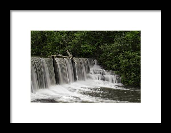Waterfall Framed Print featuring the photograph Upper Desoto by Vince Maggio