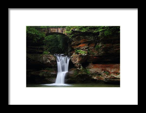 Upper Framed Print featuring the photograph Upper Falls At Hocking Hills State Park by Jetson Nguyen