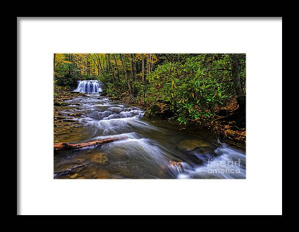 Holly River State Park Framed Print featuring the photograph Upper Falls by Thomas R Fletcher