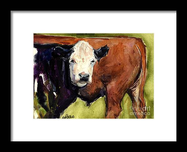 Cows Framed Print featuring the painting Upper Field by Molly Poole