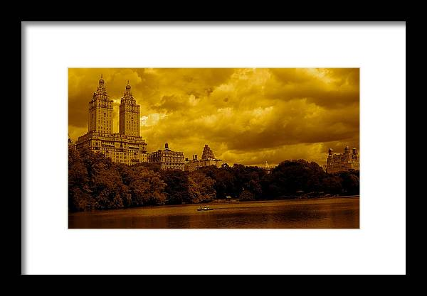 Iphone Cover Cases Framed Print featuring the photograph Upper West Side And Central Park by Monique's Fine Art