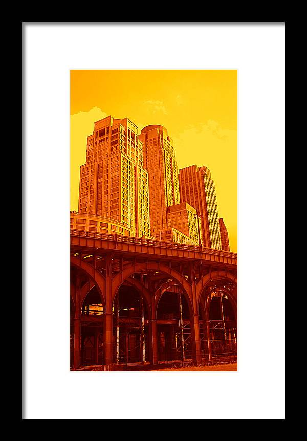 Manhattan Prints And Posters Framed Print featuring the photograph Upper West Side And Hudson River Manhattan by Monique's Fine Art