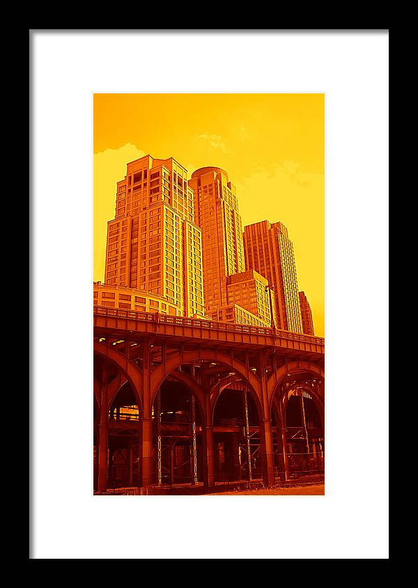 Manhattan Prints And Posters Framed Print featuring the photograph Upper West Side and Hudson River Manhattan by Monique Wegmueller