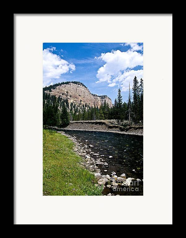 Landscape Framed Print featuring the photograph Upriver In Washake Wilderness by Kathy McClure