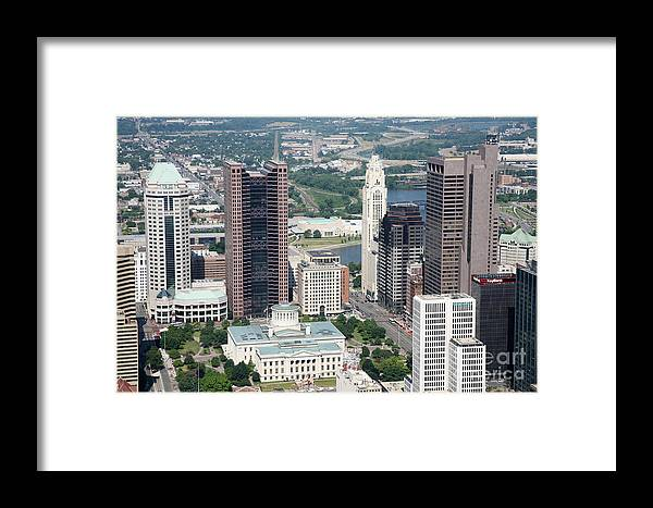 Columbus Framed Print featuring the photograph Uptown District by Bill Cobb