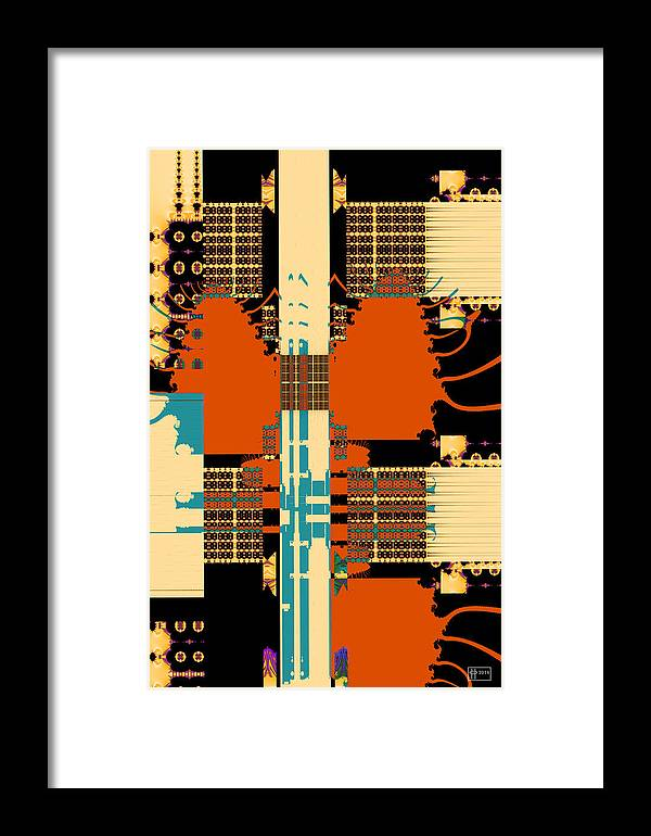 Abstract Fractal Framed Print featuring the digital art Urban Sprawl by Jim Pavelle