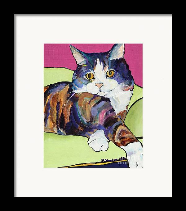 Pat Saunders-white Canvas Prints Framed Print featuring the painting Ursula by Pat Saunders-White