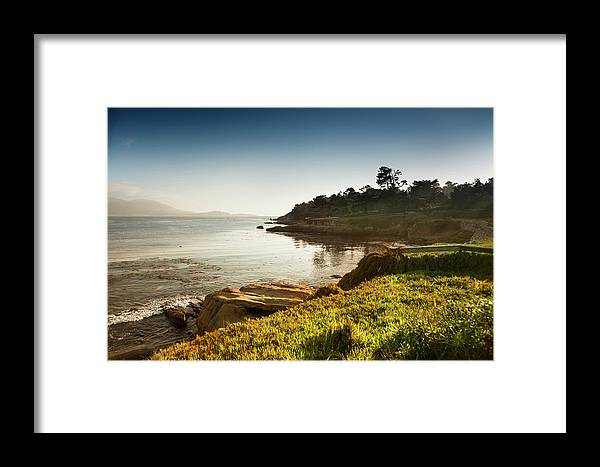 Water's Edge Framed Print featuring the photograph Usa, California, Big Sur, Coastline And by Pgiam