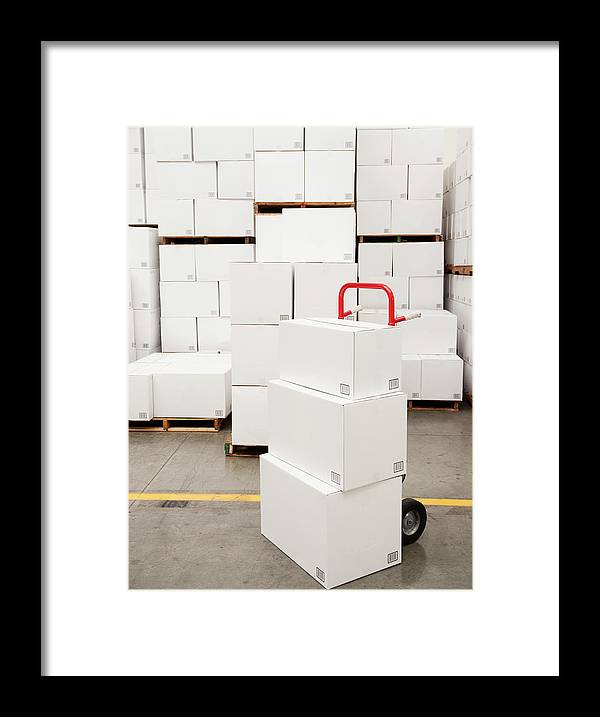 Freight Transportation Framed Print featuring the photograph Usa, California, Santa Ana, Stack Of by Erik Isakson