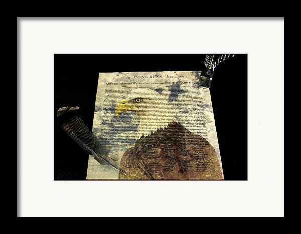 4 Framed Print featuring the photograph USA by Jack R Perry