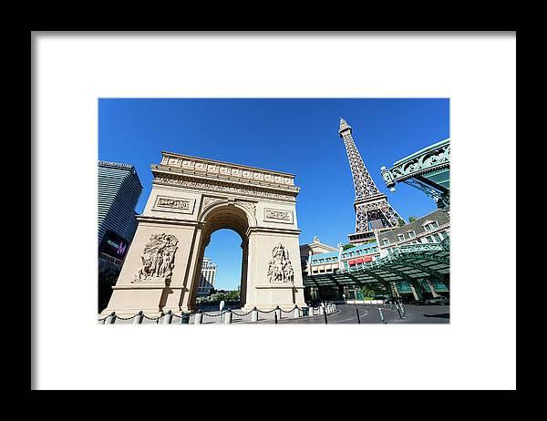 Arch Framed Print featuring the photograph Usa, Nevada, Las Vegas, Paris Las Vegas by Sylvain Sonnet