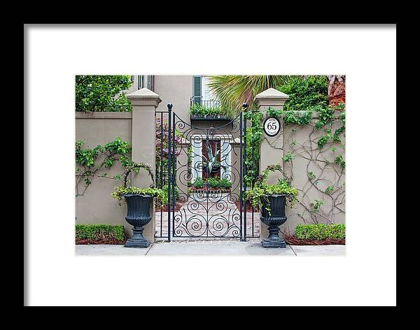 Architecture Framed Print featuring the photograph Usa, Sc, Charleston, Historic District by Rob Tilley