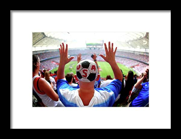National Team Framed Print featuring the photograph Usa V Japan Final - Fifa Womens World by Jeff Vinnick