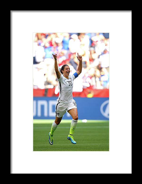 Carli Lloyd Framed Print featuring the photograph Usa V Japan Final - Fifa Womens World by Kevin C. Cox