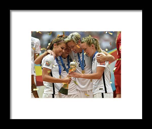 Abby Wambach Framed Print featuring the photograph Usa V Japan Final - Fifa Womens World by Rich Lam