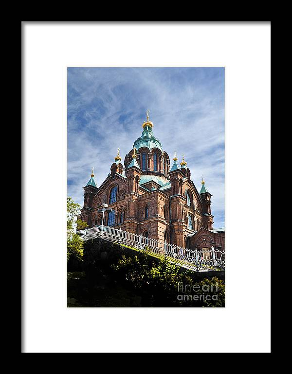 Finland Framed Print featuring the photograph Uspenski Church by YJ Kostal