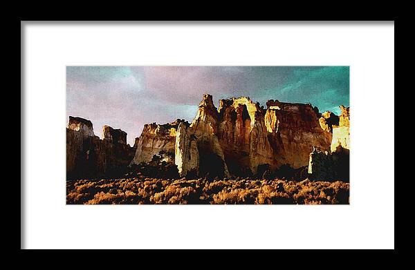 Digital Framed Print featuring the digital art Utah Country 1 by David Hansen