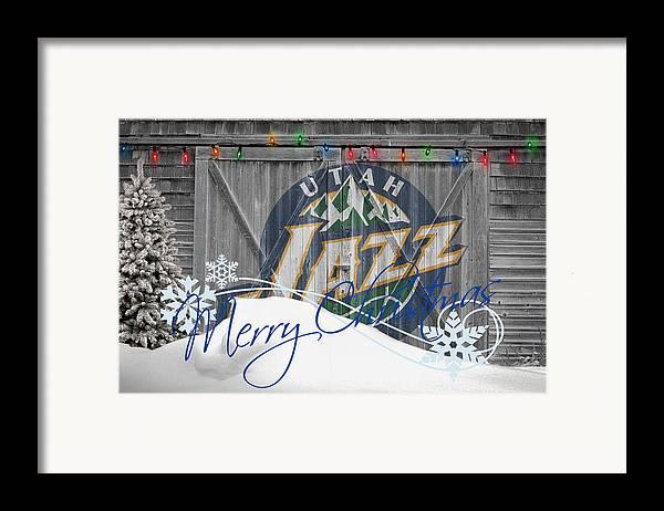 Jazz Framed Print featuring the photograph Utah Jazz by Joe Hamilton